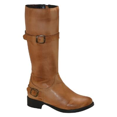 Donna Bomber Tan Leather Ladies Country Boot