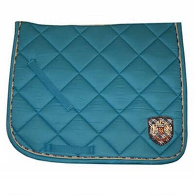 Roma Embroidered Dressage Pad Light Blue