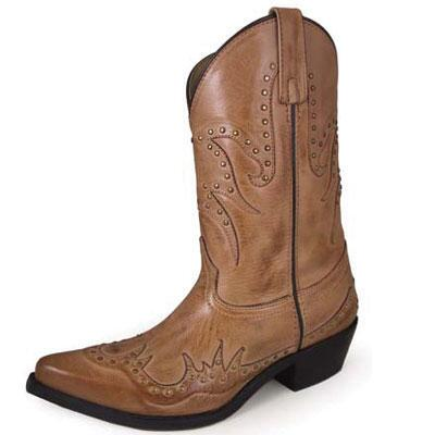 Willow Bomber Tan Leather Snip Toe Ladies Western Boot