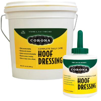 Corona Hoof Dressing 32 oz with Brush