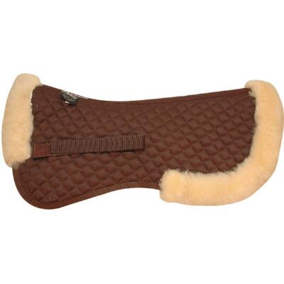 Half Pad Sheepskin Rolled Edges Brown
