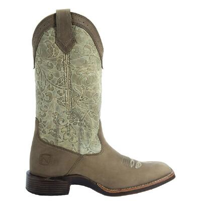 All Around Embossed Ladies Western Boot