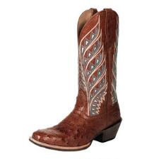 Noble Outfitters Sahara Ostrich Ladies Western Boot - TB