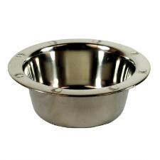 Dog Bowl Embossed Wide Rim Stainless Steel - TB