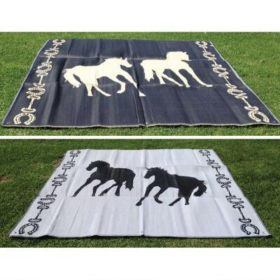 Plastic Mat Horses With Horseshoe Border