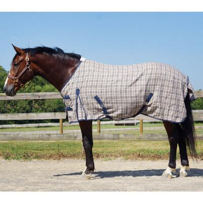 Plaid Heavyweight Stable Sheet Open Front