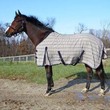 Traditional Plaid Stable Sheet with Shoulder Gusset - TB