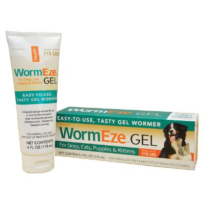 Wormeze Gel For Dogs and Cats  4oz