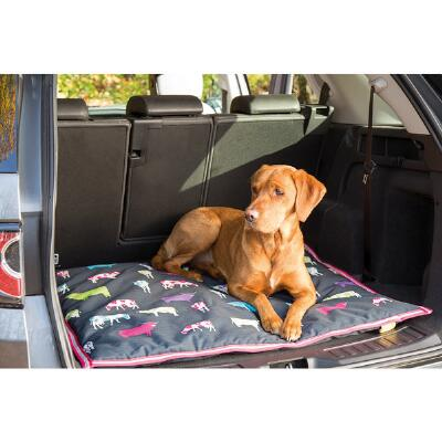Shires Digby & Fox Waterproof Dog Bed - Cow Print