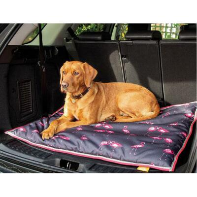 Shires Digby and Fox Flamingo Print Waterproof Dog Bed