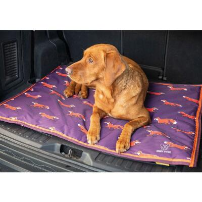 Shires Digby and Fox Print Waterproof Dog Bed
