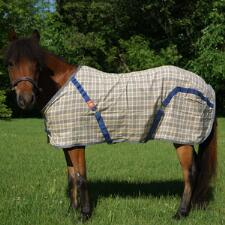 5/A Baker Sheet Miniature Horse Original Plaid - TB