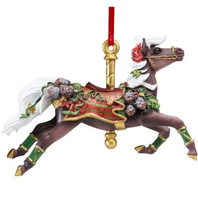 Breyer Holiday 2016 Tartan Carousel Ornament