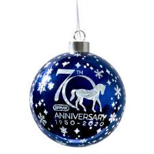 Breyer Holiday 70th Anniversary Glass Ball Ornament - TB