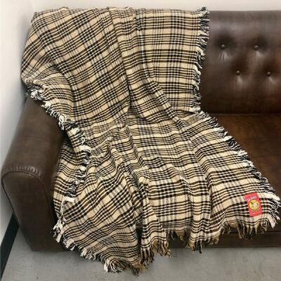 5/A Baker Plaid Afghan 50in x 70in