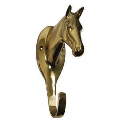 Large Brass Horse Head Hook