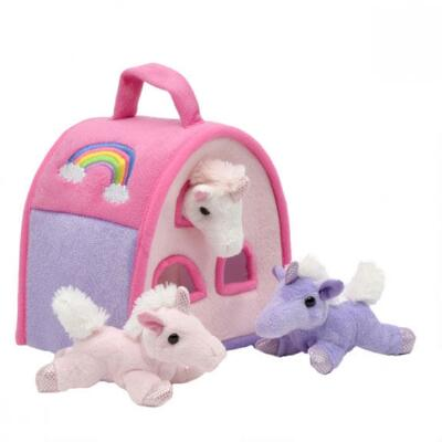 Unicorn Finger Puppet Barn