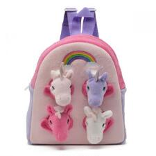 Plush Unicorn Carry-Along Backpack - TB