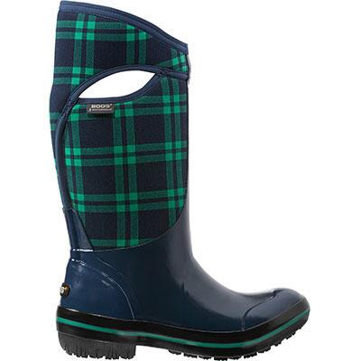 Bogs Plimsoll Plaid Tall Ladies Rubber Boot