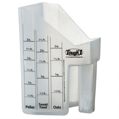 Tough-1 Feed Scoop with Measurements