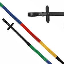 Camelot Rubber Rainbow Reins - TB