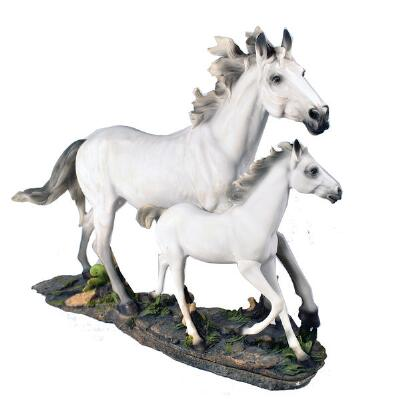 Mare and Foal Statue