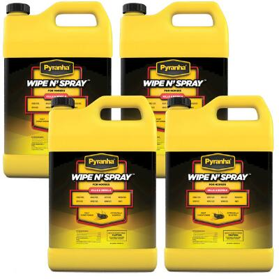 Pyranha Wipe N Spray Gal Case of 4 Free Shipping