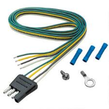 4 Way Flat Side Trailer Connector Harness 12in