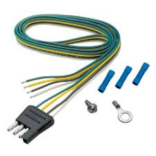 4 Way Flat Side Trailer Connector Harness 48in