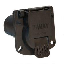 7 Way Round Style Trailer Connector with Sealed Door