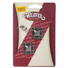 Weaver Antique Silver Square Berry Concho - TB