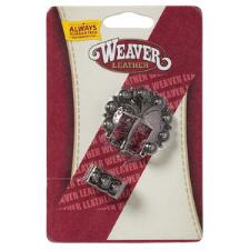 Weaver Antique Silver Berry Buckle and Keeper Set - TB