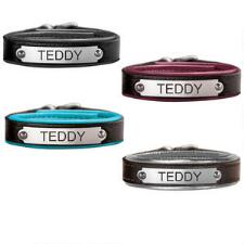Perris Leather Padded Bracelet with Custom Engrave Nameplate - TB