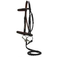 English Snaffle Bridle Havanna Brown Croc Print Horse Size