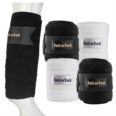 Back On Track Therapeutic Ceramic Black Polo Wraps Pair