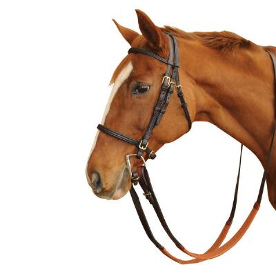 Quiet Creek Leather Thoroughbred Bridle - Complete