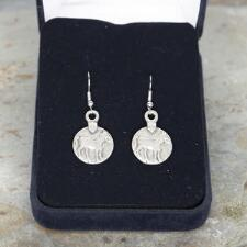Lilo Vintage Horse Coin Silver Drop Earrings - TB
