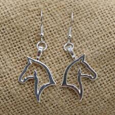 Lilo Collections Horse Profile Drop Earrings - TB