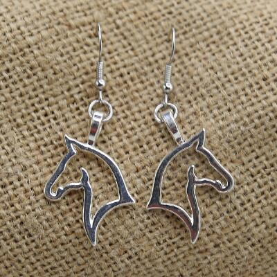 Lilo Collections Horse Profile Drop Earrings