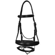 Vespucci Black Padded Dressage Bridle - TB