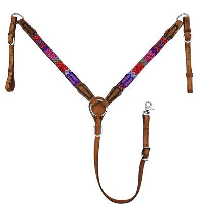 Big Country Tack Jasper Beaded Breastcollar