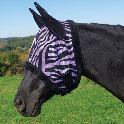 Zebra Mesh Fly Mask with Ears