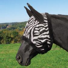 Tough 1 Zebra Mesh Fly Mask with Ears - TB