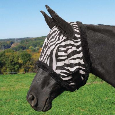 Tough 1 Zebra Mesh Fly Mask with Ears