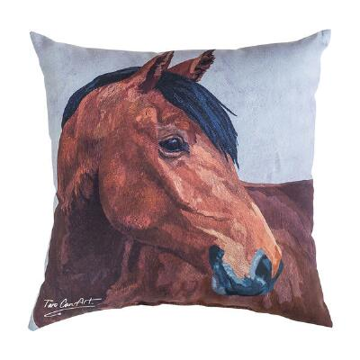 Screen Printed Artisan Horse Pillow