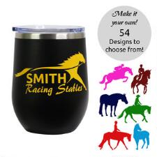 Insulated 12oz Stemless Wine Tumbler with Custom Decal - TB