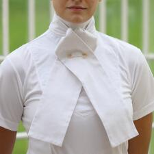 Shires Untied Plain White Stock Tie - TB