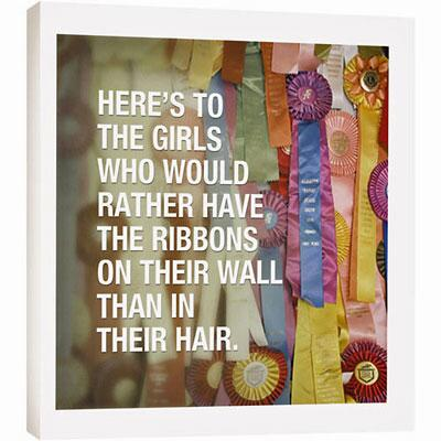 Eco Art Wall Plaque Girls Who Would Rather Have Ribbons