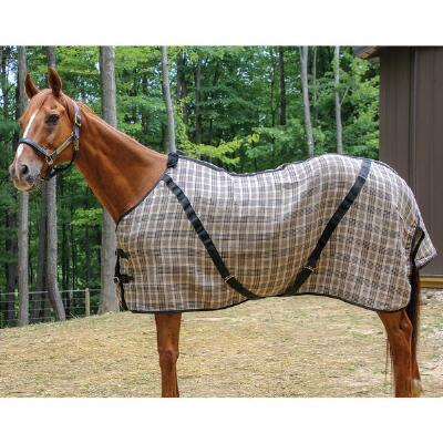Stable Blanket Original Plaid Open Front