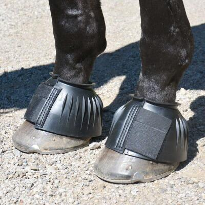 Bell Boots Rubber Ribbed with EZ Pull Fasteners